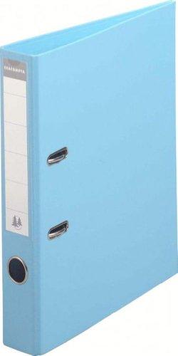 Exacompta-53502E-Classeur--Levier-PVC-2-Anneaux-Format-A4-Dos-de-50-mm-Bleu-Clair