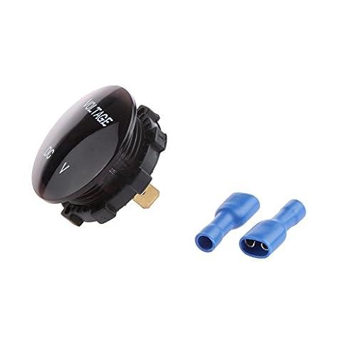 Compteur de Tension Voltmètre Moto Voiture Volts Panneau D'affichage LED