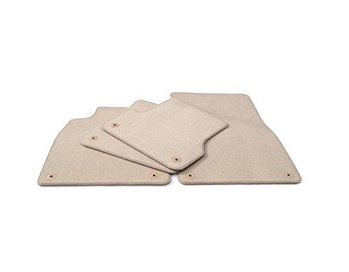 Preisvergleich Produktbild Passgenaue Velours Matten Textil Autoteppiche BEIGE KO-BEIGEVMFO033