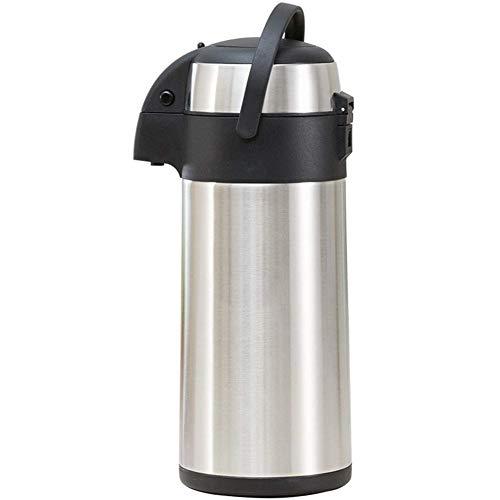 DUDDP Pumpe Action Airpot Thermosflasche Getränkespender Catering Vakuum Isolierende Luft Topf Krug Für Heiß Kaltes Getränk Tee Kaffee Edelstahl (größe : 5L) -