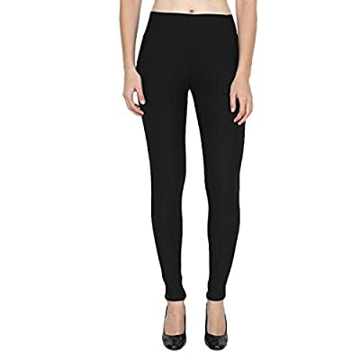 QRAFTINK Women's Poly Cotton Jeggings (Black,Waist 26-32)