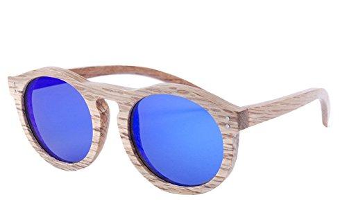 Insun Herren Sonnenbrille Gr. Einheitsgröße, Braun - Wood Frame