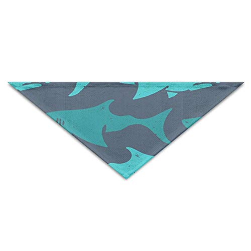 BigHappyShop Light Blue Shark Pet Scarf Dog Neckerchief Puppy Triangle Triangle Bibs Scarfs for Pet Dogs - Light Blue Runner