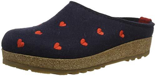 HAFLINGER Couriccini Grizzly, Pantofole Donna, Blu (Mittelblau 70), 40 EU