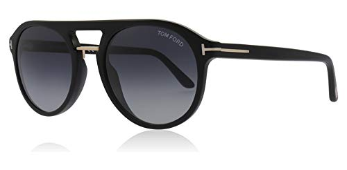 Tom Ford Sonnenbrillen IVAN-02 FT 0675 BLACK/BLUE SHADED Herrenbrillen
