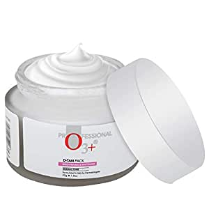 O3+ D-Tan Pack for Instant Skin Brightening and Lightening Benefits Infused with Mint and Eucalyptus Oil - Suitable for All Skin Types (50gm)