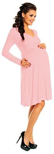 Zeta Ville - abito prémaman - estivo vestito - manica lunga - donna - 890c Rosa Cipria