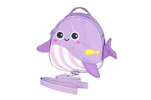 OMALOO Kinderrucksack, Animal Kinder Rucksack Baby Kleinkind Rucksack with Sicherheits-Zügel-Leine-Gurt für 1-3 Jahre Jungen und Mädchen (Lila) -