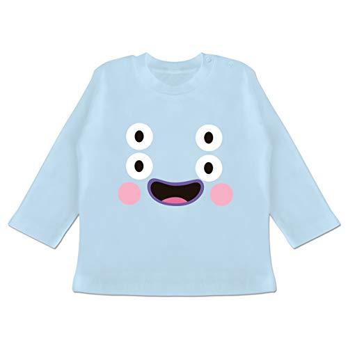 g Baby - Monster Kostüm Karneval - 18-24 Monate - Babyblau - BZ11 - Baby T-Shirt Langarm ()