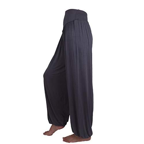 Pantalon Spandex Doux Modal Pantalon Harem Yoga Pilates Pants Lanterne Femmes SANFASHION(Foncé,XXXL)