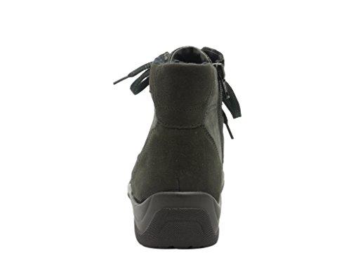 Waldläufer Stivali Donna/Stivaletti Nubuck/pelle Nappa, RV, Rivestimento caldo, rimovibile Plantare carbonio Ampiezza H