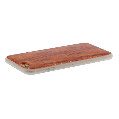iPhone 6S Plus Coque Mince Style, Bambu Bois Conception Flexible Tpu Gel Transparent Housse de Protection Case Pour Apple iPhone 6 Plus / 6S Plus 5.5 inch color-d