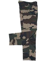 MFH Hombre Pantalones de combate US BDU Cremallera Stop - Camuflaje-CCE, XL