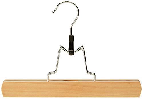 Relaxdays 10021829 grucce con morsetto in legno, set da 12 appendiabiti con pinze per pantaloni & gonne, hlp: 17x25x2,3, cm beige