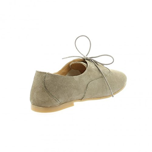 So send Derby cuir velours taupe Taupe