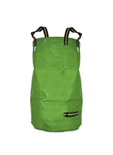 CALEIDO Gartensack Gartenabfallsack Gartenabfälle Sack selbststehend faltbar 4 Griffe robust PP grün 270 Liter