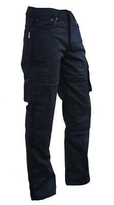 Australian Bikers Gear UK Australian Bikers Gear Black Motorcycle Kevlar CE Armoured Cargo Jeans Trousers UK 36L- EU 46L