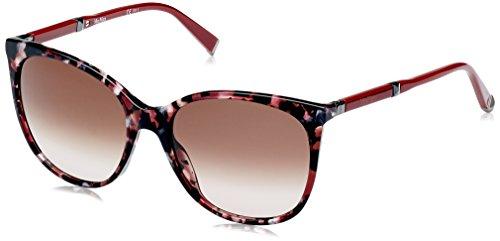 Max mara mm design ii k8 h8c 56, occhiali da sole donna, rosso (redhvn dkrut/brown sf)