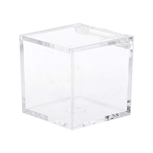 Jiay - Cubo bombonera plástico Transparente Caramelos
