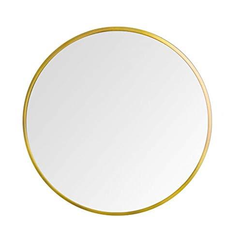 JRPW Hd Espejo de Baño Marco de Metal Espejo de Pared Redondo Espejo de Maquillaje Moderno/dorado ...