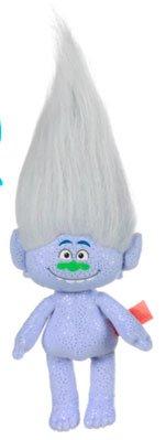 Trolls - Peluche Guy-Diamond 39cm, capelli bianchi - Qualità super soft