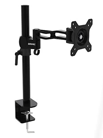 Duronic DM351X2 Single LCD LED Desk Mount ( Die-Cast Aluminium ) Arm Monitor Stand Bracket with Adjustability (Tilt ±15°|Swivel 180°|Rotate 360°) + 10 Year