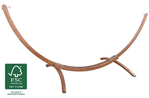 XXL Hängemattengestell (FSC© 100%) wetterfestes Holz Fichte verzinkter Beschlag für KingSize Hängematten 420 x 167 x 160
