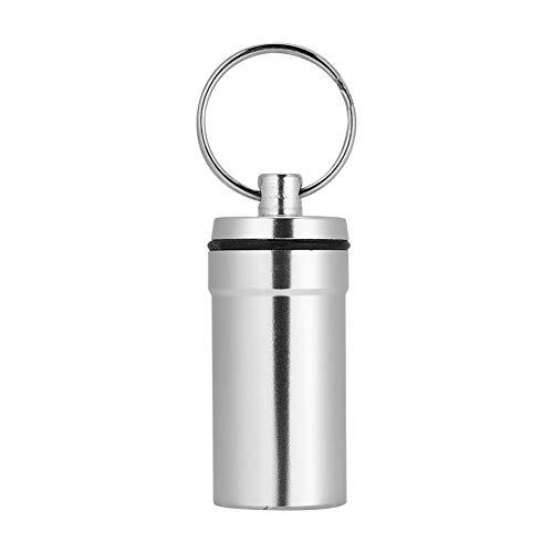 TOPINCN Tablettenbox aus Aluminium, wasserdicht, Klettern, Pillendose mit Schlüsselanhänger
