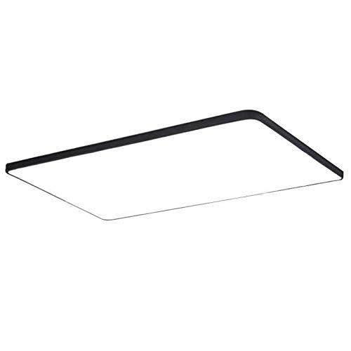 Luce moderna e minimalista ultra-sottile plafoniera quadrata bianco e nero camera da letto soggiorno lampada illuminazione creativa segmentazione tricolore 50x50cm45w