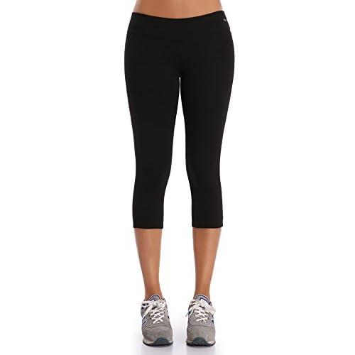 WingsLove Women's Yoga Workout Capri Pants Sports Running Tights Leggings