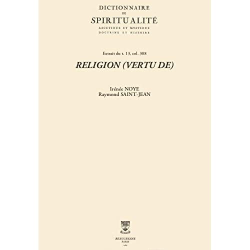 RELIGION (VERTU DE) (Dictionnaire de spiritualité)
