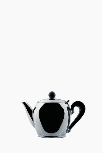 Alessi Miniatur Teekanne, Edelstahl, Silber, 12 x 11.5 x 35 cm Philippe Starck Alessi