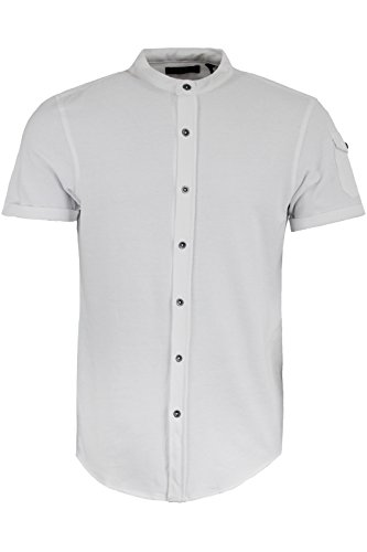 Brave Soul Herren Freizeit-Hemd Optic White