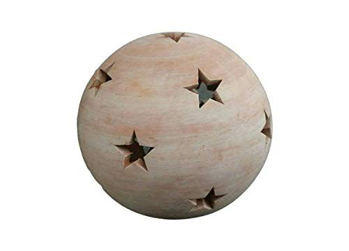 Sternkugel 17 cm aus Terracotta Terrakotta, Kugel Stern Garten Deko Windlicht