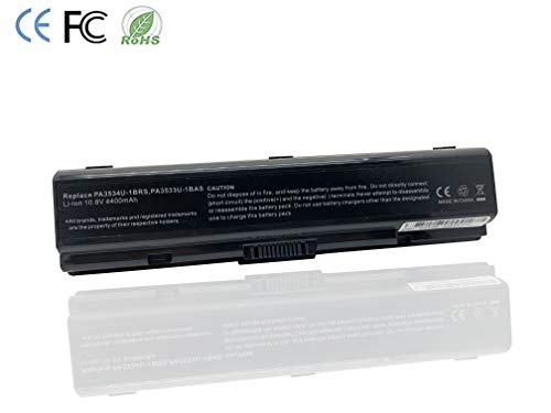 KDJ Laptop-Batterie für Toshiba PA3534U-1BRS PA3534U PA3533U-1BRS PA3534U-1BAS PA3535U-1BAS PA3727U-1BRS PA3535U-1BRS PABAS098 PABAS174, Satellit A200 A210 A300 A305-S6872 L300D A5005 A505 -