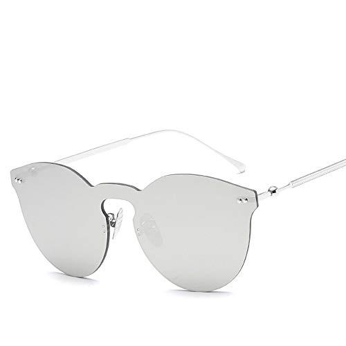 QDE Sonnenbrillen Siamese Rimless Sunglasses Damen Herren Sonnenbrillen Damen, F