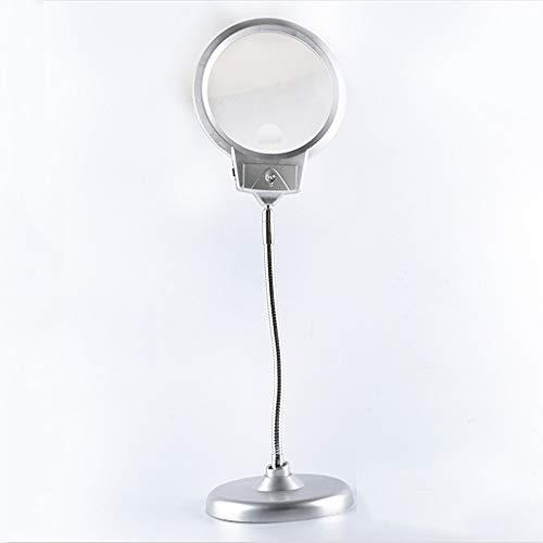 JiuErDP Desktop-Lupe mit Licht 10 Mal HD LED-Licht 20 Mal alter Mann Lesung Reparatur Tischlampe Inspection Circuit Board Gravur Workbench Lupe (Die Board Zuordnung)