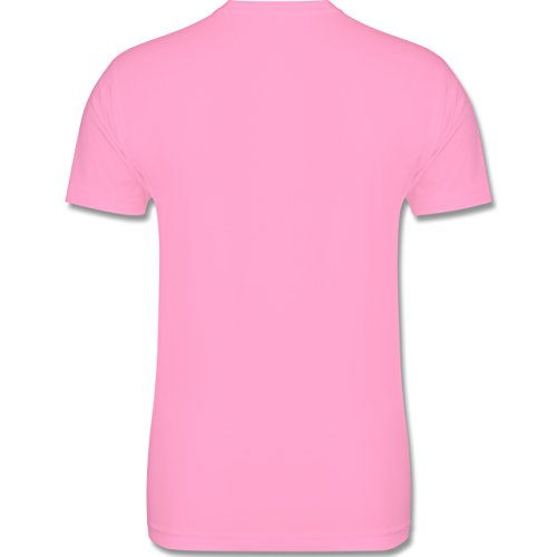Music - keep calm and rewind - L190 Herren Premium Rundhals T-Shirt Rosa