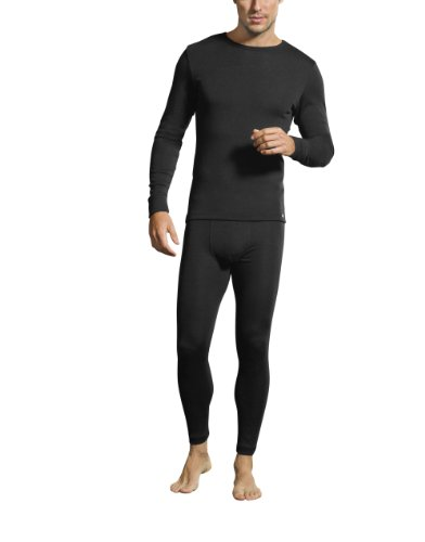 Jockey® Herren, Merino Thermals T-Shirt, langarm, 19500717, schwarz, Größe XL (Thermal-shirt Herren 2012)