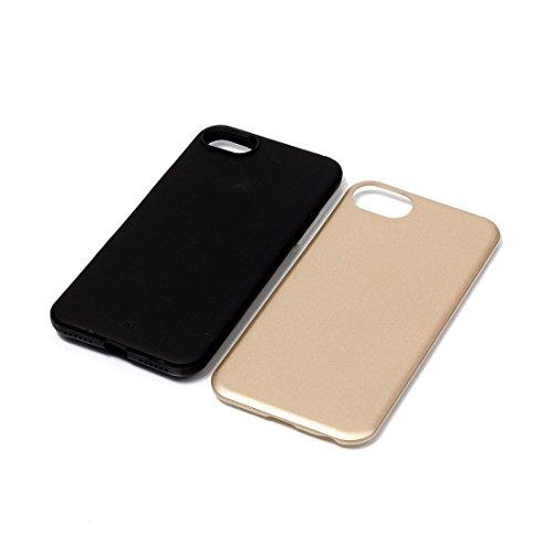 2 en 1 solide couleur PU + TPU Combinaison arrière Housse pour iPhone 7 BY EKINHUI ( Color : Grey ) Rose gold