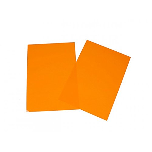 Creafirm Feuille de Plastique dingue Couleur Orange 29x20cm par  Creafirm