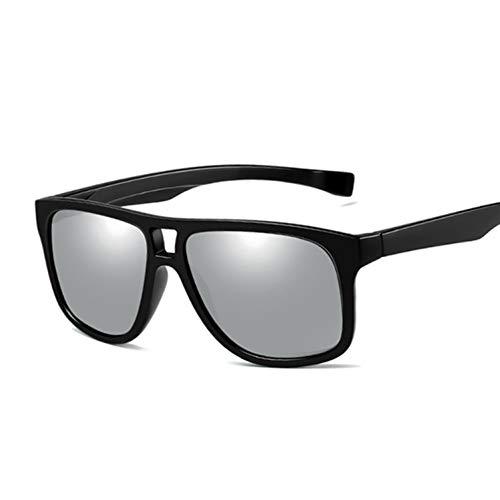 Kjwsbb Quadratische Sonnenbrille Herren Polarisierte Sonnenbrille Herren Fahrspiegel Beschichtung Schwarzer Rahmen Brillen Sonnenbrillen Herren UV400
