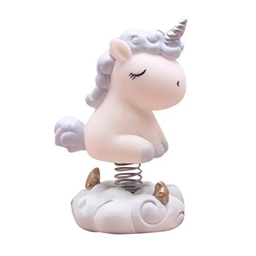 SUPVOX Sacudiendo la Cabeza Unicornio Figura Juguetes Coche salpicadero Ornamento decoración
