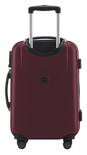 HAUPTSTADTKOFFER - Wedding - Handgepäck Koffer Kabinen Hartschalen-Koffer Trolley Rollkoffer Reisekoffer, 4 Rollen, TSA, 55 cm, 42 Liter, Burgund -