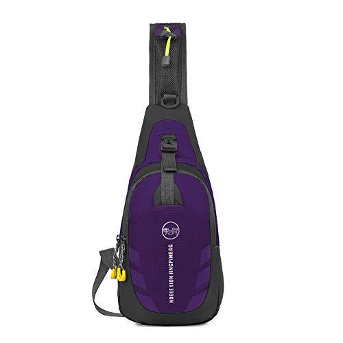 TnXan Casual Daypacks Oxford Unisex Chest Pack Hit Color Single Shoulder Strap Back Bag Crossbody Bags for Women Men Sling Shoulder Bag
