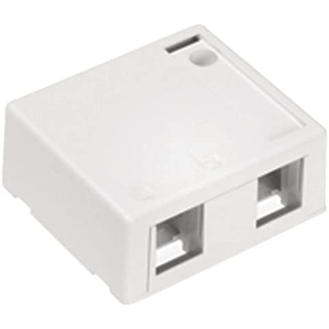 LEVITON 41089-2WP QuickPort 2-Port Surface-Mount Housing, White by