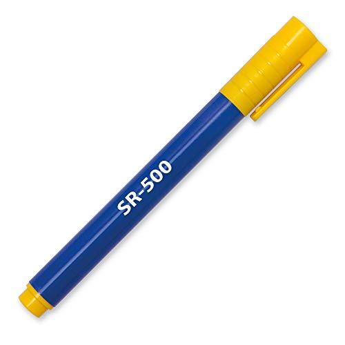 Prüfstift Geldschein Tester Geldscheinprüfstift Geldprüfstift SR-500 Prüfer Geldprüfer Geldscheinprüfer (blau mit gelben Kappen 3 Stück)