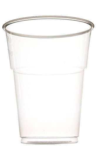 idea-station Kunststoff-Becher einweg, 500 ml, 50 Stück, transparent, stapelbar, Wasser-Gläser, Whiskey-Gläser, Cocktail-Gläser, Party-Becher, Plastik-Becher, Einweg-Becher (Glas Cocktail-ring)