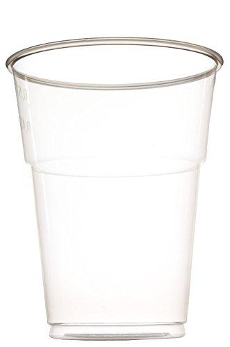 einweg cocktailglaeser idea-station Kunststoff-Becher einweg 250 oder 500 ml, 50 Stück, transparent, stapelbar auch als Wasser-Gläser, Whiskey-Gläser, Cocktail-Gläser einsetzbar, Party-Becher, Plastik-Becher, Einweg-Becher, Größe:0.5 Liter (50 Stück)
