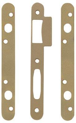 Gâche plate - Pêne dormant 1/2 tour - Serrure Trilock 5000 - Vendu par 3 - Vachette
